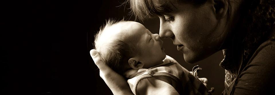 Mutter Baby Kuss Liebe