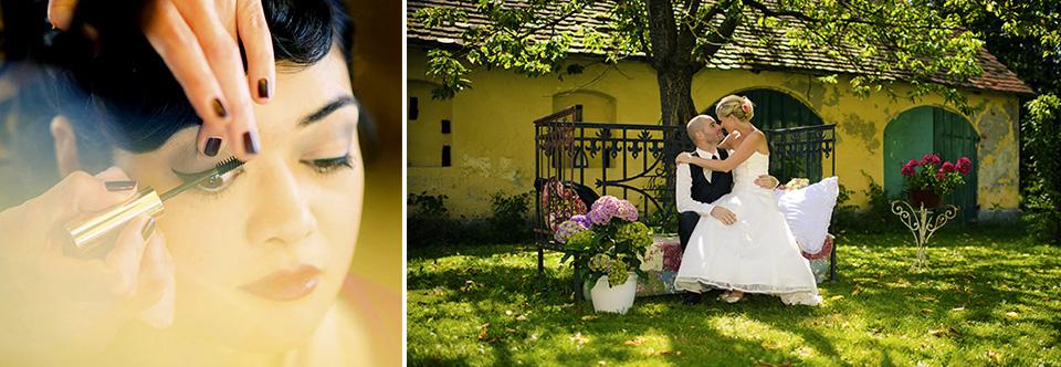 Hochzeitsfotograf Bett Garten grün