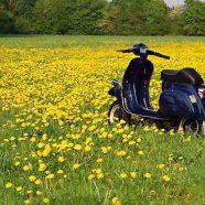Vespa Motorrad Fotoshooting