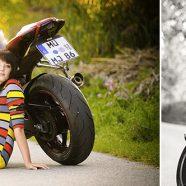 Fotoshooting Motorrad Bike Sexy